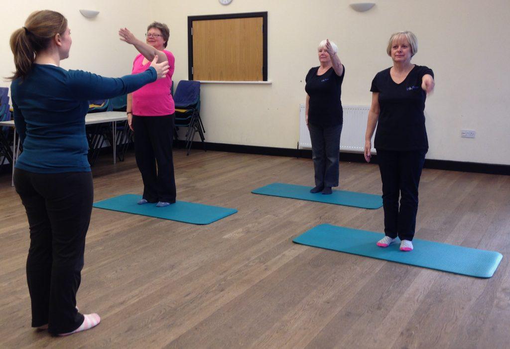 LF Pilates Class doing exercises
